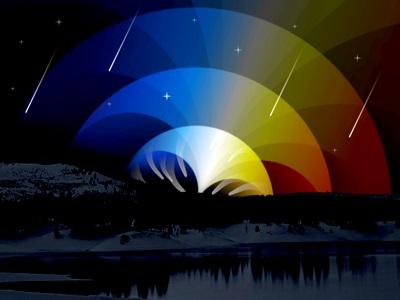дерево, ночь, Обои, космос