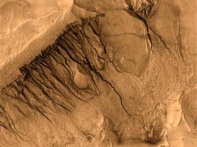 Овраги и каналы на Марсе